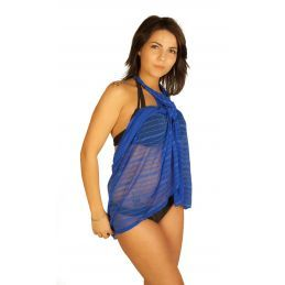 Robe pareo bleu Collection Vip Pareos CV-PAREOBLEU Lerotika