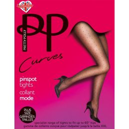 Collants grande taille à pois Pretty Polly Collants Fantaisies & Résilles PP-PMAUN4 Lerotika