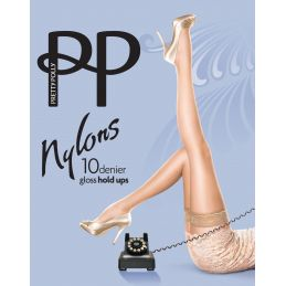 Bas top nylon naturel Pretty Polly Bas Autofixants PP-PNAF85-NA Lerotika