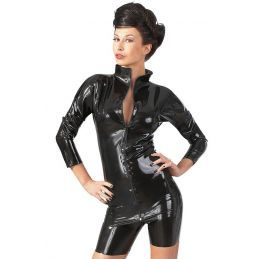 Tee Shirt en Latex avec Zip - XXL LateX Grandes Tailles BDSM 3700398000700 Lerotika