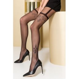Collant Noir Effet Porte Jarretelles TI0108 T 1/2 Passion Collants Passion 3700384000012 Lerotika