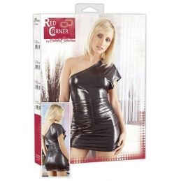 Robe courte brillante argentée Red Corner L Red Corner Robes BDSM & Jupes BDSM 3500194000300 Lerotika