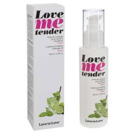 Huile de massage Love Me tender saveur Mojito - 100 ml Love to Love Huiles de Massage 4400248000000 Lerotika