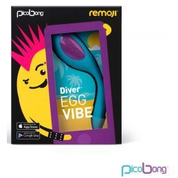 Oeuf Rechargeable Connecté Remoji Diver Egg Vibe Turquoise Lelo, Picobong