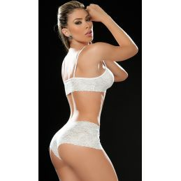 Lace set white 206 Mapalé