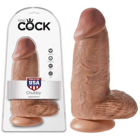 Gode Extra Large Chubby Caramel King Cock 17.5 cm King Cock Godes Ventouse & Réalistes 1845210000000 Lerotika