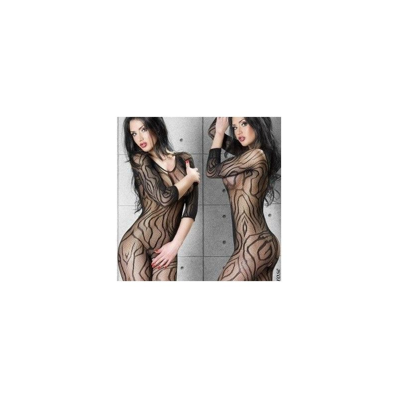 Bodystocking résille rayé Chilirose Bodystocking CR-3237 Lerotika