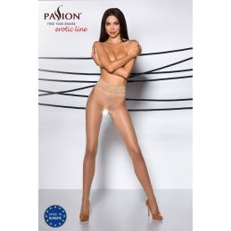 Collant Ouvert Beige TI001 - T 3/4 Collants Passion 3700449000034 Lerotika