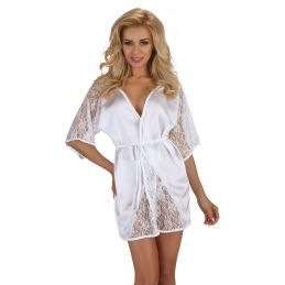 Magnolia dressing gown white Beauty Night Déshabillés BN-3803 Lerotika